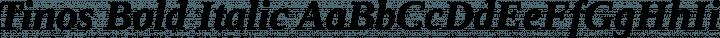 Tinos Bold Italic free font