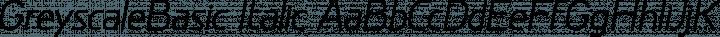 GreyscaleBasic Italic free font