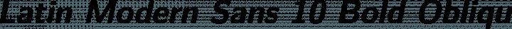 Latin Modern Sans 10 Bold Oblique free font