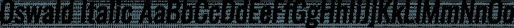 Oswald Italic free font
