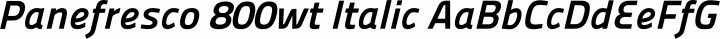 Panefresco 800wt Italic free font