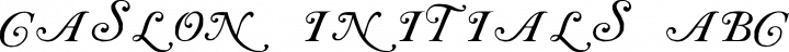 Caslon Initials Regular free font