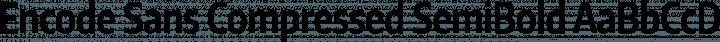 Encode Sans Compressed SemiBold free font