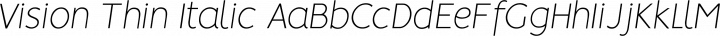 Vision Thin Italic free font