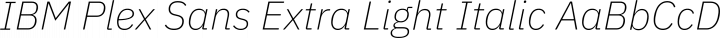 IBM Plex Sans Extra Light Italic free font