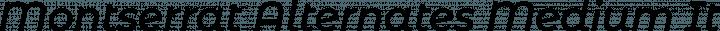 Montserrat Alternates Medium Italic free font