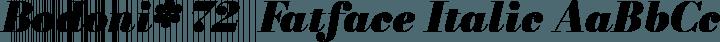 Bodoni* 72  Fatface Italic free font