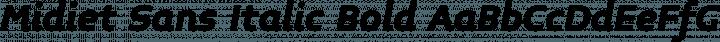 Midiet Sans Italic Bold free font