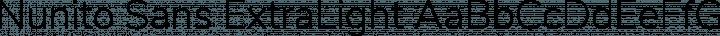 Nunito Sans ExtraLight free font