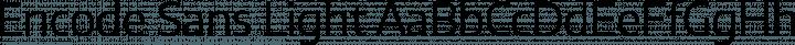 Encode Sans Light free font