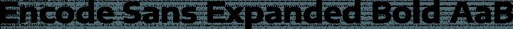 Encode Sans Expanded Bold free font