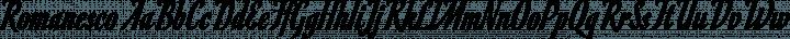 Romanesco Regular free font