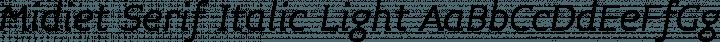 Midiet Serif Italic Light free font