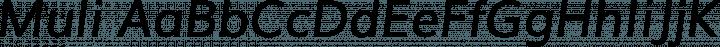 Muli font family by Vernon Adams