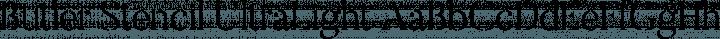 Butler Stencil UltraLight free font