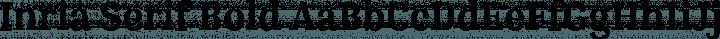 Inria Serif Bold free font
