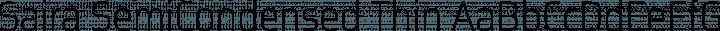 Saira SemiCondensed Thin free font
