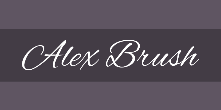 Alex Brush Font Free by TypeSETit » Font Squirrel