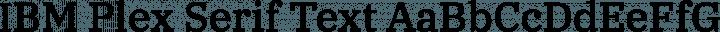 IBM Plex Serif Text free font