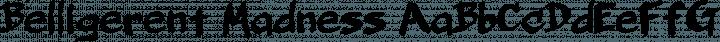 Belligerent Madness Regular free font