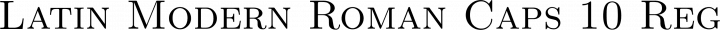 Latin Modern Roman Caps 10 Regular free font