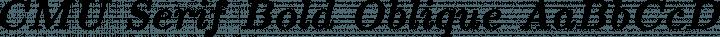 CMU Serif Bold Oblique free font