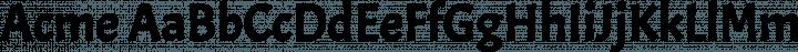Acme font family by Huerta Tipográfica