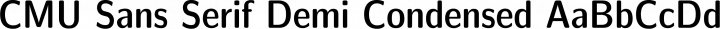CMU Sans Serif Demi Condensed free font