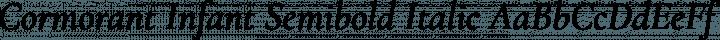 Cormorant Infant Semibold Italic free font