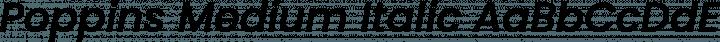 Poppins Medium Italic free font