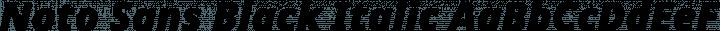 Noto Sans Black Italic free font