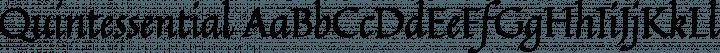 Quintessential Regular free font