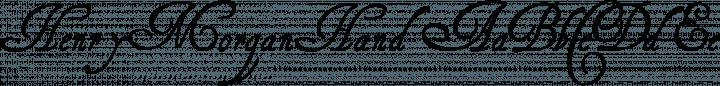 HenryMorganHand font family by Paul Lloyd