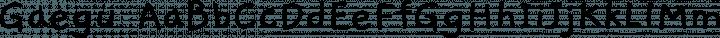 Gaegu font family by JIKJI SOFT