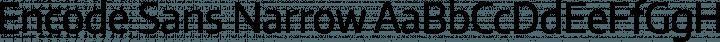 Encode Sans Narrow Regular free font
