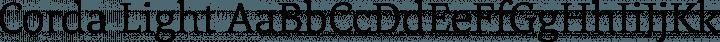 Corda Light free font