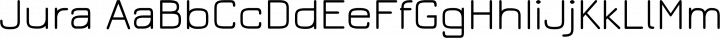 Jura font family by Daniel Johnson