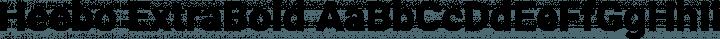 Heebo ExtraBold free font