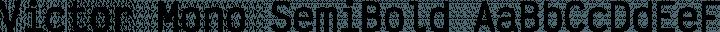 Victor Mono SemiBold free font