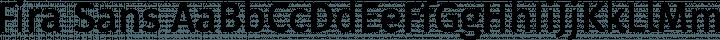 Fira Sans Regular free font