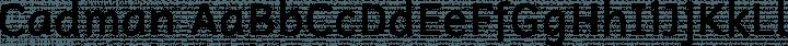 Cadman Regular free font