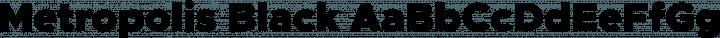 Metropolis Black free font