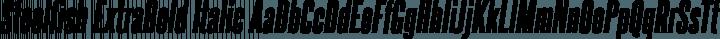 Steelfish ExtraBold Italic free font