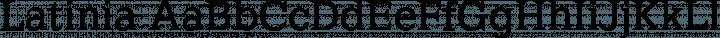 Latinia Regular free font