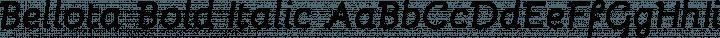 Bellota Bold Italic free font