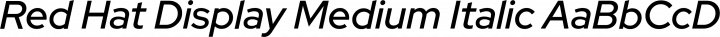 Red Hat Display Medium Italic free font
