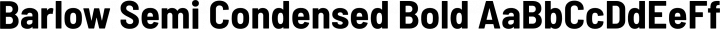 Barlow Semi Condensed Bold free font