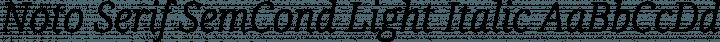 Noto Serif SemCond Light Italic free font