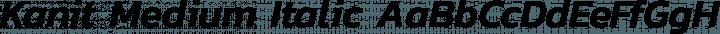 Kanit Medium Italic free font