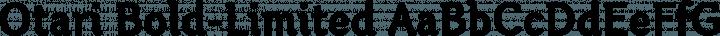 Otari Bold-Limited free font